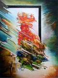 Abstract painting of Nepal